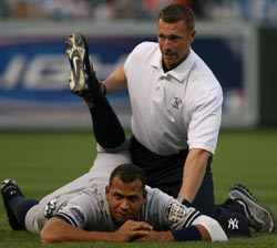 A-Rod Stretching