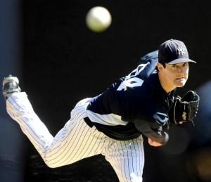 Andrew Brackman throwing in the bullpen