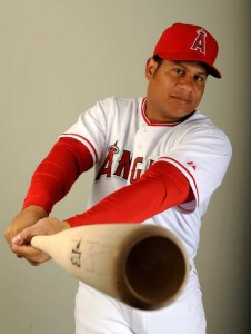 Bobby Abreu with the Angels