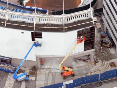 Old Yankee Stadium deconstruction