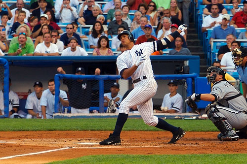 A-Rod swinging