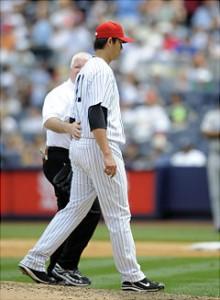 Chien-Ming Wang and his injured shoulder