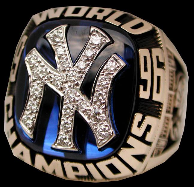 1996 World Series ring