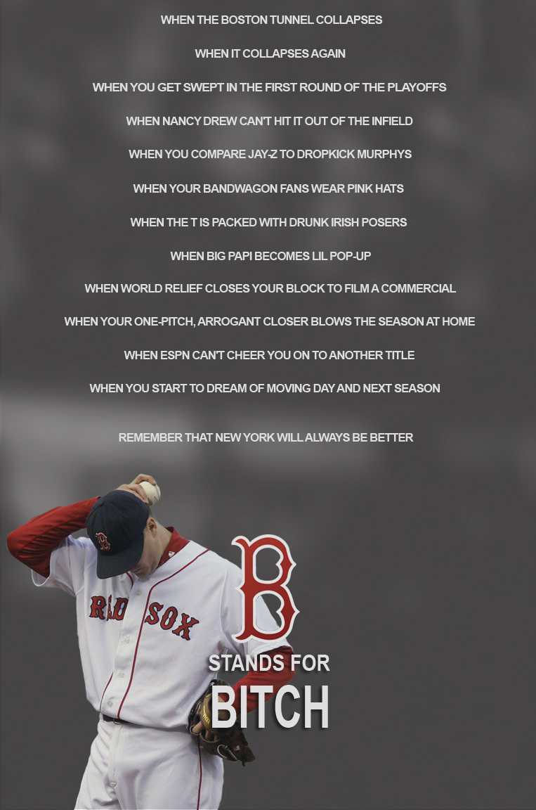 You have the Red Sox