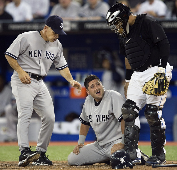 Joe Girardi, Francisco Cervelli, Jose Molina