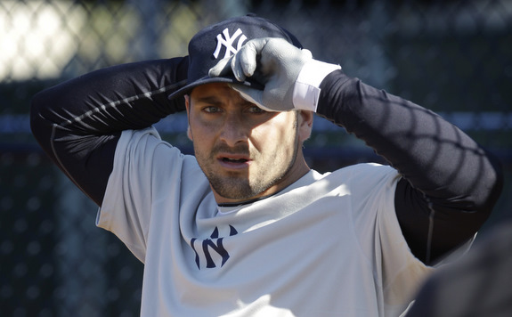 Cervelli, or Giambi? (AP Photo/Charlie Neibergall)