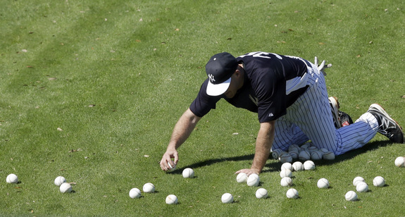 Quite possible the most useful thing Youkilis did in 2013. (AP Photo/Matt Slocum)