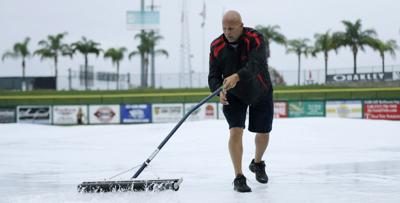 Rained all over Florida today. (AP Photo/Matt Slocum)