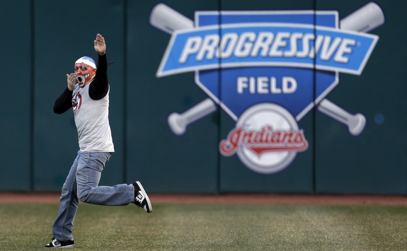 Pretty sure I will never not use this photo for Yankees-Indians. (AP Photo/Tony Dejak)