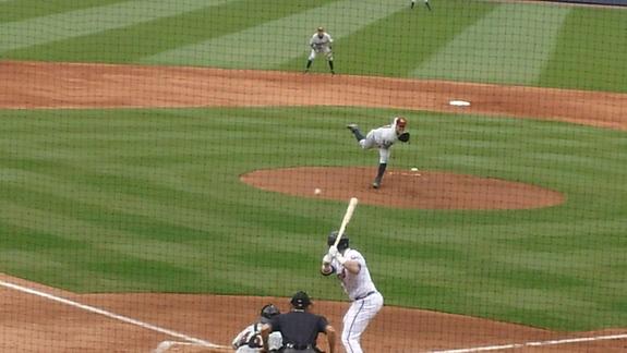 Brett Marshall pitching.