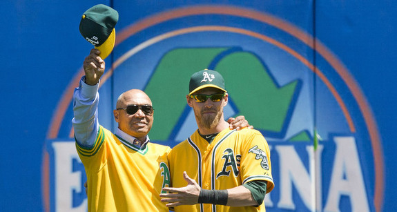 Reggie Jackson and Josh Reddick. Peas, pod, etc. (Jason O. Watson/Getty)