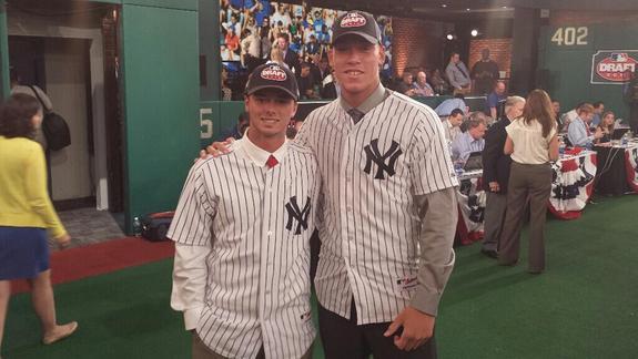 Clarkin is 6-foot-2. He's the short one. (Photo via @MLB_PR)