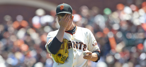 The state of the Giants rotation in one photo. (Jason O. Watson/Getty)