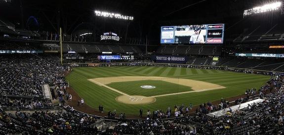 Safeco Field has a gigantic new scoreboard. (AP Photo/Ted S. Warren)