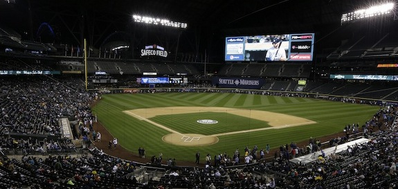 Safeco Field has a gigantic new scoreboard. (AP Photo/Ted S. Warren)