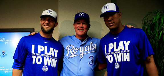Gordon, Yost, and Perez. (Jamie Squire/Getty)