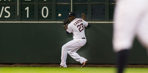 Hard to believe he made it to MLB despite being so afraid of the ball. (Bob Levey/Getty)