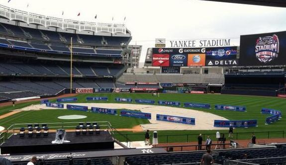 Yankee Stadium will host two hockey games in January. Presumably there will be ice. (Photo via Andrew Gross)