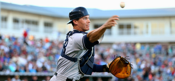 C/3B Peter O'Brien during Arizona Fall League play, which has literally nothing to do with this post. (Presswire)