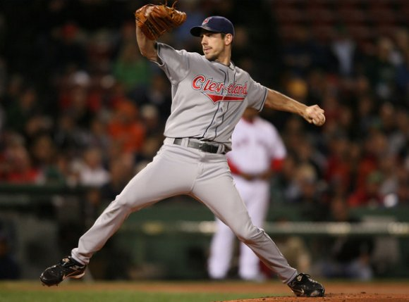 No chance I'm posting a picture of Lee in a post-Indians jersey. (Elsa/Getty Images)