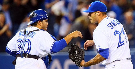 Imagine Dioner Navarro being your biggest offseason move. (Abelimages/Getty)