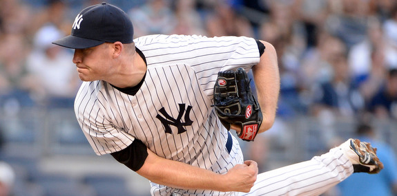 Starting pitcher Chase Whitley beats the first place Blue Jays. 2014 is weird. (Presswire)