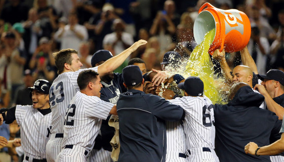 I'm a fan of the whole team Gatorade bath. (Presswire)