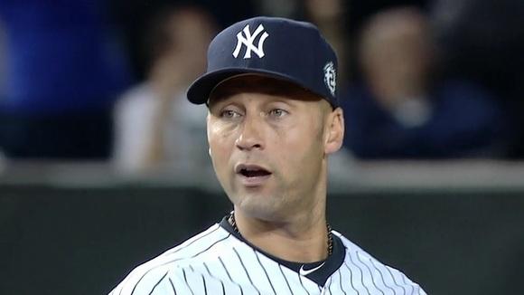 Derek Jeter tears