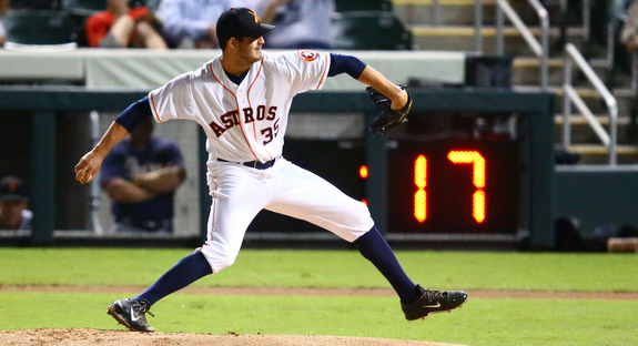 Mark Appel and the new pitch count in the AzFL. (Presswire)