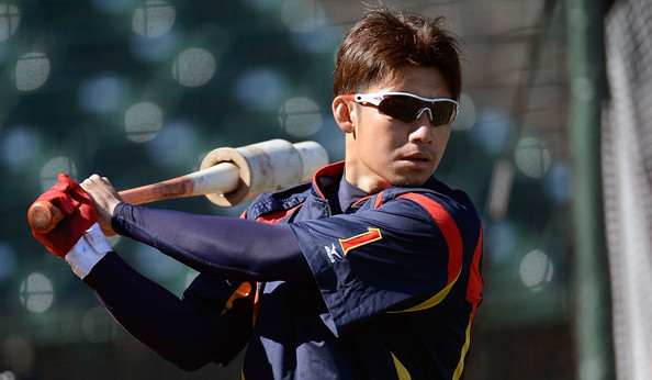 Toritani at the 2013 World Baseball Classic. (Thearon W. Henderson/Getty)