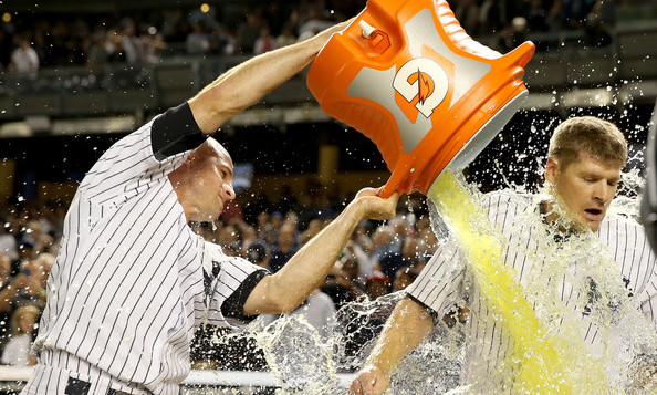 I'm a sucker for Gatorade shower photos. (Elsa/Getty)