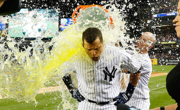 Prado and some Gatorade. (Jim McIsaac/Getty)