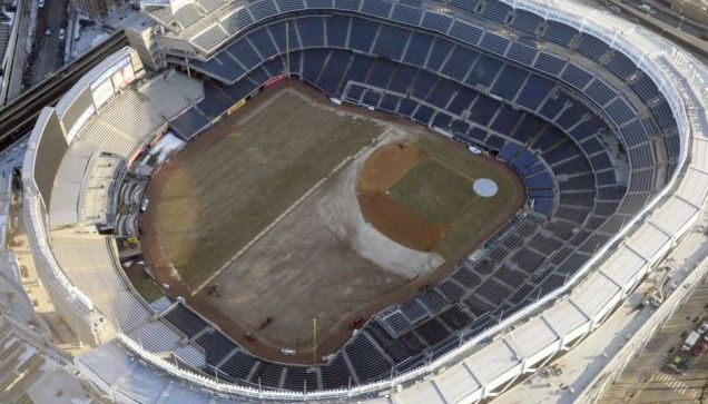 The Yankees Stadium field earlier this week. (NY Daily News)