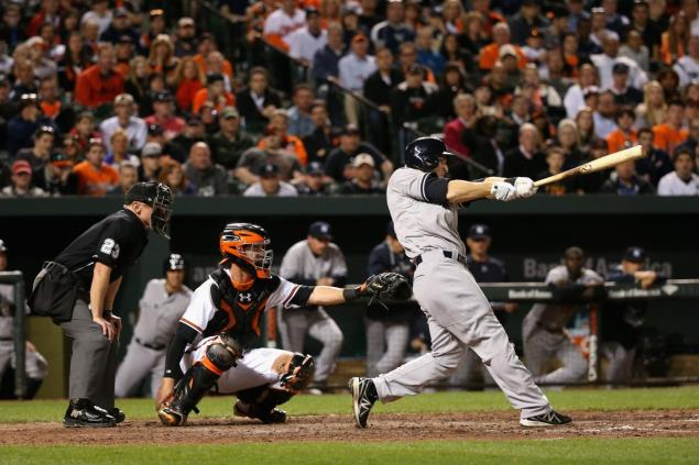Stephen Drew, grand slam. Not a joke. (Photo credit: NY Daily News)