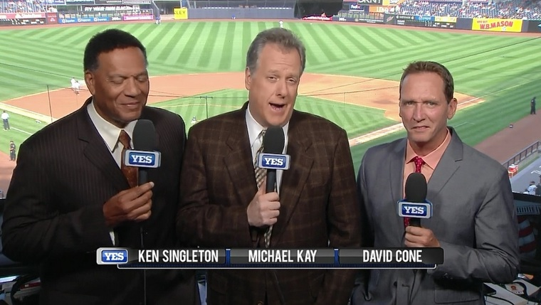 Ken Singleton Michael Kay David Cone