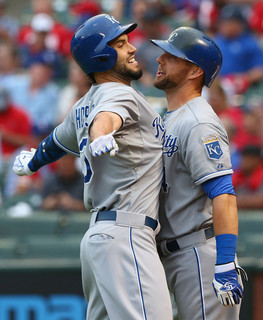 Hosmer and Gordon. (Ronald Martinez/Getty)