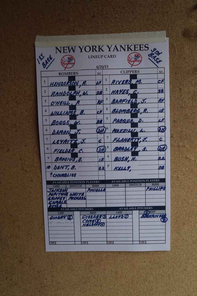 Old Timers' Day Lineups