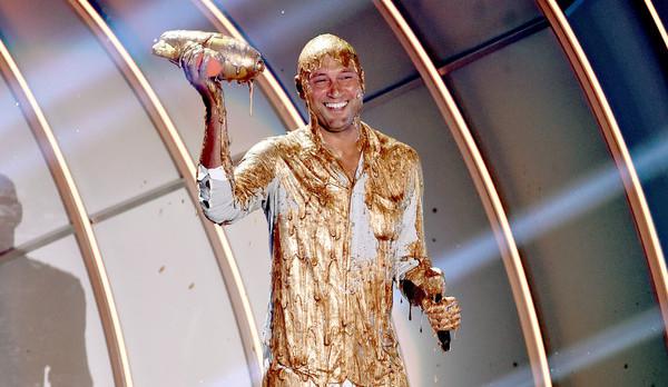 Derek got slimed by Nickelodeon recently. (Kevin Winter/Getty)