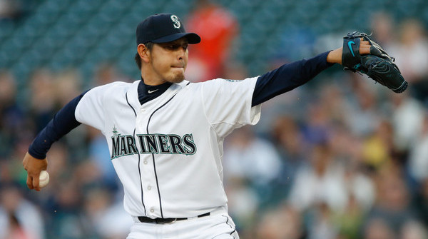 Iwakuma. (Otto Greule Jr/Getty)