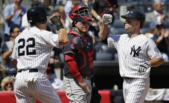 Rare celebration against the Indians (AP Photo/Julie Jacobson)