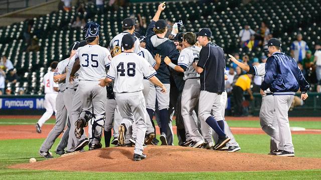 The Staten Island Yankees won their division in 2015. (Robert Pimpsner)