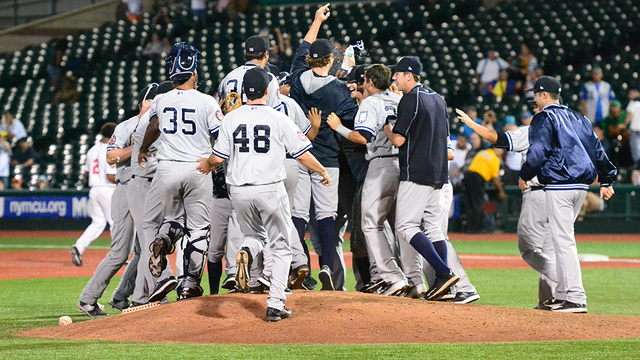 The Staten Island Yankees won their division in 2015. (Robert Pimpsner)