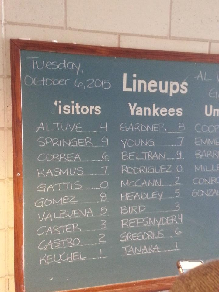 2015 Wild Card Game Lineups