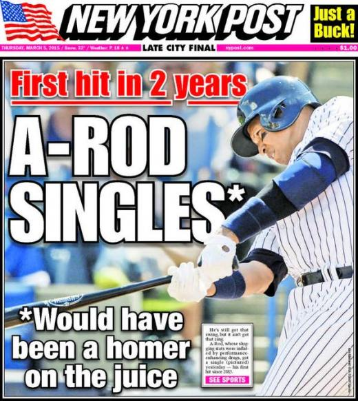 Alex Rodriguez NY Post