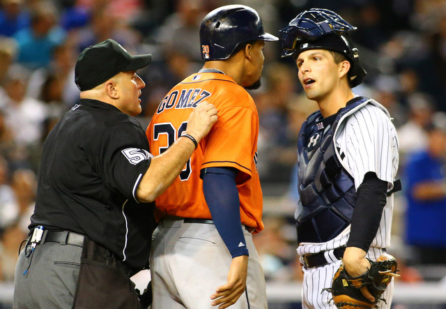 Eric Cooper was behind the plate for that stupid little incident with Carlos Gomez earlier this year. (Presswire)