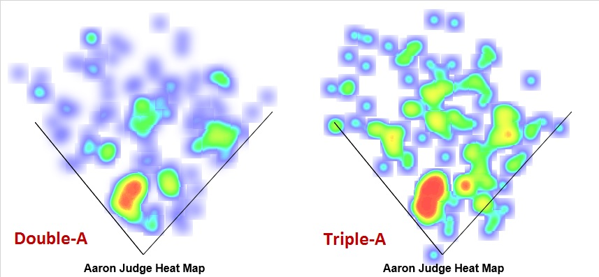 Aaron Judge 2015 Spray Charts