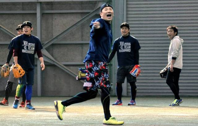 Those shirts! (The Asahi Shimbun/Getty)