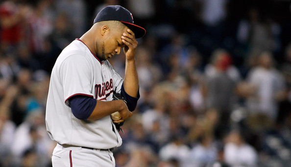 Liriano's reaction to the trade offer you're about to read. (Mike Stobe/Getty)