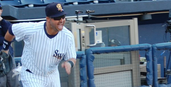 Can't imagine many other big league veterans would be this happy to be in Triple-A. (Photo via @swbrailriders)