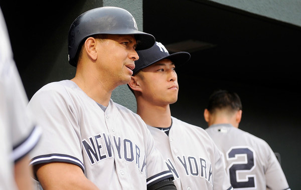 A future Hall of Famer. And A-Rod. (Greg Fiume/Getty)